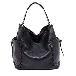 SOLD Vegan Leather - Black Whipstitch